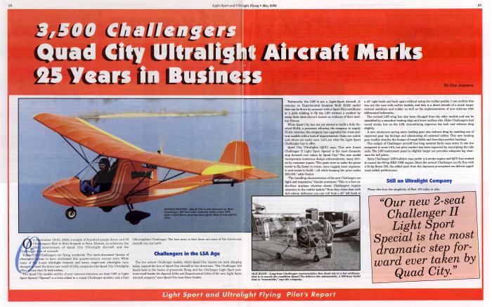 Advanced Ultralight Aircraft - Challenger - National